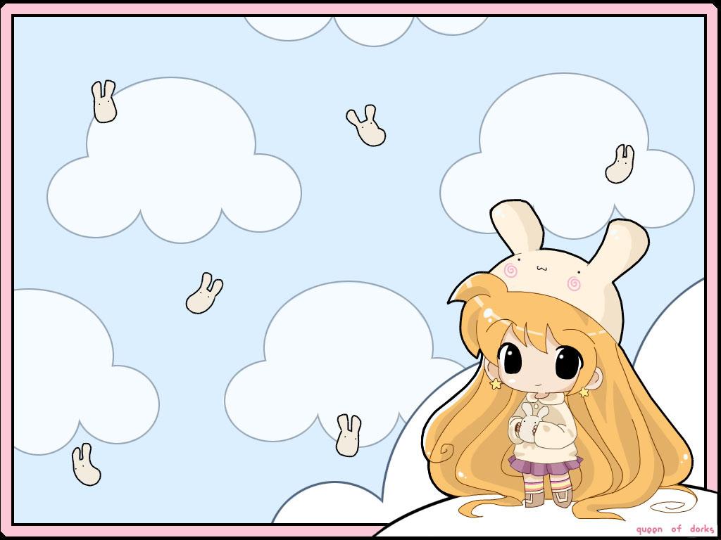 [分享]xp韩国卡通风格桌面,清新淡雅