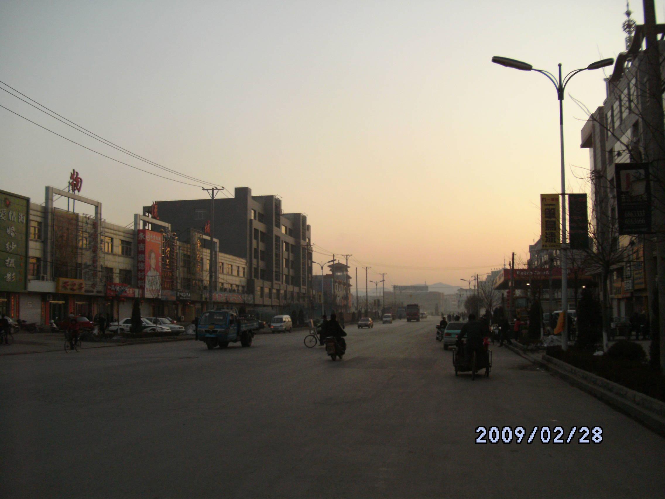 黑白复古欧式小城街道