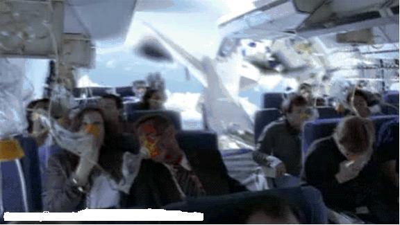 法航飞机失事前的一瞬间