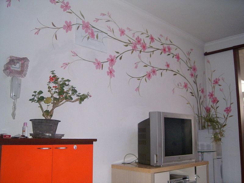 装饰画手绘屋子